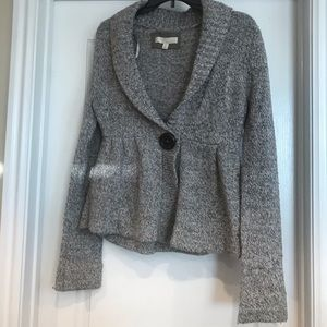 Grey Kaisely Button Sweater